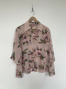 Stunning Trelise Cooper Silk Floral Shirt. Size 12. Also Suit 14. Light Pink
