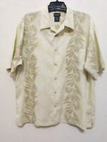 PURITAN Mens Hawaiian Floral Shirt Size XL Multicolor Button Front Short Sleeves