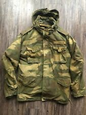 ABERCROMBIE & FITCH MEN'S JACKET QUILTED COAT PARKA CAMO SIZE MEDIUM CAMOFLAUGE