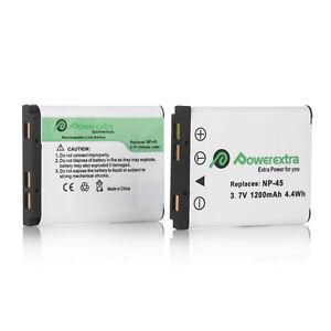 2x NP-45 NP-45A Batteries For Fujifilm FUJI FinePix XP10 XP60 J10 J20 J100 Camer