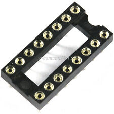 10PCS Round-Pin DIP 16  IC Sockets Integrated Circuit Adaptor Solder Type Socket