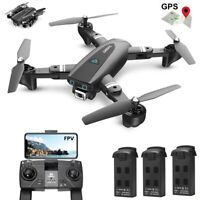 GPS RC Drone FPV Foldable Selfie Quadcopter S167 1080P HD Wifi Camera Tapfly RTF