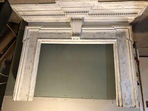 antique fireplace mantel surround