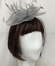 Designer at Debenhams Grey Feather Fascinator Headband Boxed Exc Con
