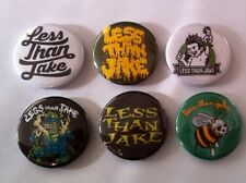 6 Less Than Jake button Badges Johnny Quest Thinks We're Sell outs Pezcore Ska