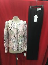 KASPER PANT SUIT/BLOUSE INCLUDED/SIZE 12/IBNSEAM32'/LINED/RETAIL$280/NEW W TAG