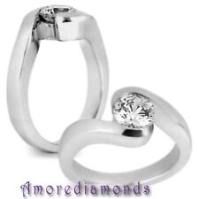 1.70 ct AGS I VS2 excellent ideal cut round diamond bypass solitaire ring gold