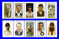 GLOUCESTERSHIRE - CIGARETTE CARD HEROES -  POSTCARD SET # 1