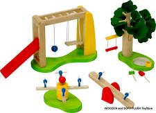 *NEW wooden toy PLAYGROUND SET pretend play CHILDS GIFT