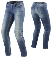 JEANS MOTO DONNA REV'IT WESTWOOD LADIES CORDURA COOLMAX PROTEZIONI TG 30 (44)