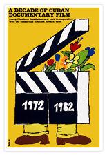 Cuban decor Graphic Design movie Poster for Cuba film.DOCUMENTARY Decade art