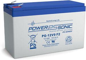 PG12V9 Power-Sonic PG 12 volt 8.5Ah Rechargeable Lead Acid 12 V 8.5Ah Battery