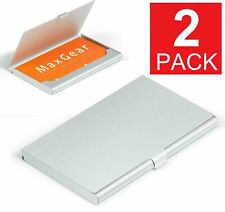 Stainless Pocket Business Card Holder Case Id Credit Name Box Steel Wallet