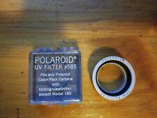 Vintage Polaroid UV Filter #585 For Color Pack Cameras In Original Case