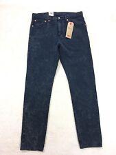 Levi's 512 Slim Taper Warp Stretch Blue Acid Wash Jeans Men's 31x30 $70 New