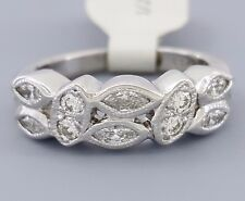 0.5 ct Vintage Platinum Marquise & Round Cut Diamond Wedding / Anniversary Ring