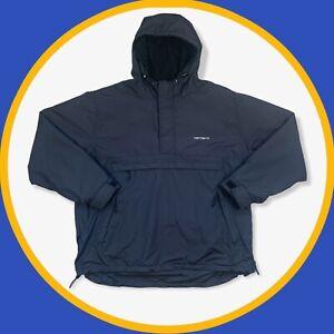 Carhartt Vintage 00s Black Nimbus 1/4 Zip Hooded Pullover Windbreaker Jacket XL