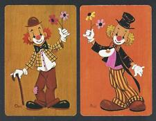 #950.927 vintage swap card -EXC pair- Chri, Clowns