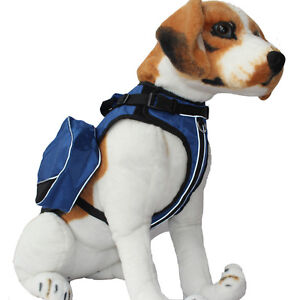 SERVICE DOG BACKPACK Harness vest Removable Saddle Bags Magic Patches 5 Colors