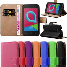 For Alcatel U3 3G Case, Leather Wallet Flip Book Stand View Card Holder Cover