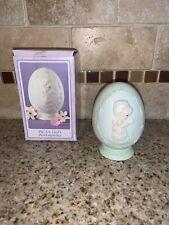 Precious Moments We Are God'S Workmanship Easter Egg & Base 1992 Porcelain #1916