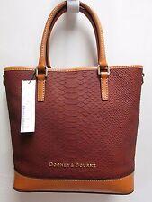 Dooney & Bourke women's Claremont Python Cara shoulder handbag tote brown NWT