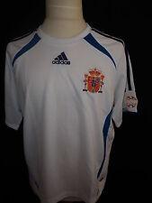 maillot de football vintage de l'équipe d'Espagne Adidas Blanc Taille 10 ans