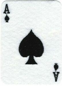 Feutre Jeu Poker Jouants Carte As De Pique Broderie Patch
