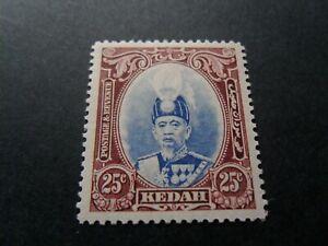 Malaya / Kedah  1937  Mm  25c Sultan stamp as per pictures