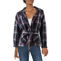 FRNCH Womens Plaid Boxy Coat Jacket Blazer BHFO 4628