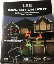 LED PROJECTION LIGHT MERRY CHRISTMAS REINDEER PROJECTOR TIMER INDOOR OUTDOOR NEW
