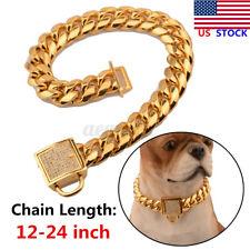 Us Gold Stainless Steel Curb Chain Pet Dog Choker Collar Rottweiler