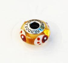 """Genuine Pandora Murano Glass Bead """"Ladybird - Gold"""" 790650 - retired"""
