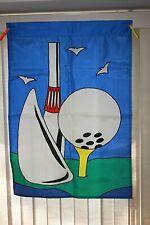 Golf Club & Ball On Tee Applique Garden Lawn Flag 40 x 28