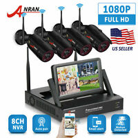 ANRAN WiFi 1080P 4CH NVR Camera Wireless Security System Outdoor Home CCTV HDMI