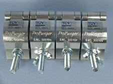 "Set of 4 ProBurger 2"" Aluminum Half Coupler Lighting Truss Handcuff Clamps 25461"