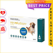 Revolution for Dogs 20.1 to 40 Kg Teal 6 Doses + Canex Flea Heartworm Control