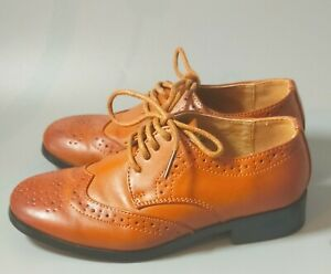 Paisley of London Boys Tan Brogue Lace Up Shoe Infant Size 10 Worn Once