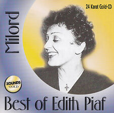 EDITH PIAF - CD - BEST OF EDITH PIAF - ZOUNDS GOLD - 24 Karat Gold-CD
