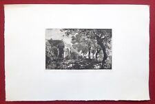 Eau-forte originale, Cimetière de Varsognes, Coindre, Cadart, XIXe