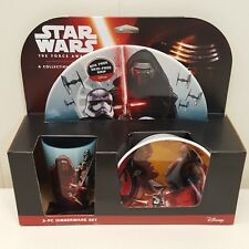 Star Wars Dinnerware Set Plate Bowl Cup 3 Pc The Force Awakens Disney