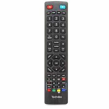 Genuine Universal Technika Remote Control for LCD LED 3D Freeview HD TV's Black