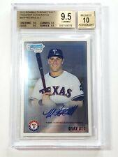 Mike Olt ⚾️ BGS 9.5/10 Gem Mint 2010 Bowman Chrome Draft Auto Prospect ⚾ Rangers