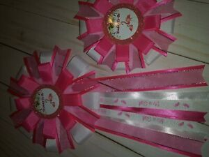 Mommy and Daddy To-Be Corsages Baby Shower Mother and Baby Flamingos