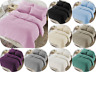 TEDDY BEAR FUR SHERPA FLEECE DUVET COVER & PILLOWCASE/S BEDDING BED LINEN SET