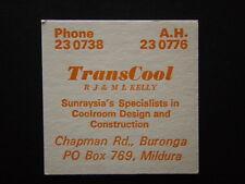 TRANSCOOL RJ & ML KELLY BURONGA MILDURA 23 0738 COASTER
