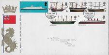 Great Britain 1969 Fdc Full Set Gpo Cover British Ships -Edinburgh- with Insert