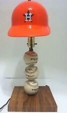Vintage 70's Houston Astros baseball light lamp orange helmet shade