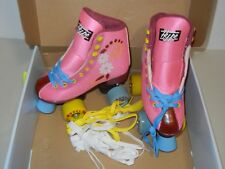 Hype Roller Skates Girls J13 Quad Indoor/Outdoor Pink W/Flowers