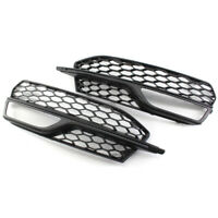 Front honeycomb Fog Light Lamp Grilles Grill for A3 S3 S-Line Bumper 2014-2016